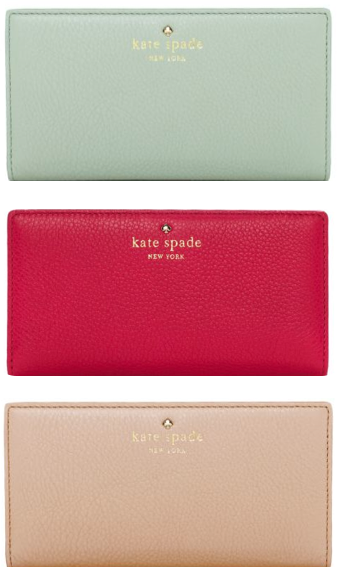 leather wallet/ kate spade