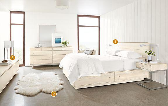 Hudson Bedroom Collection In Sand   Modern Bedroom Furniture   Room U0026 Board