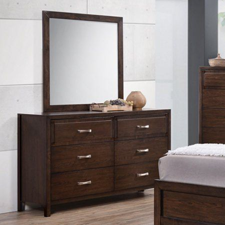 K Furniture Cappuccino Wood Bedroom Dresser With Optional