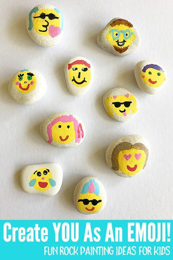 Rock Painting For Kids: Emoji Rocks
