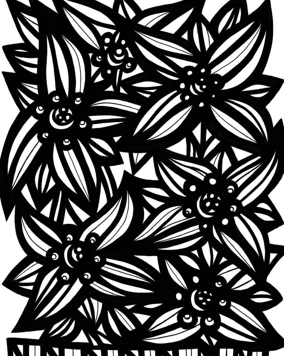 Botanical art coloring book -  Flower Flowers Floral Nature Botanical Art Arts Artist