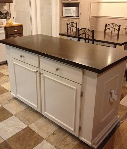 Kitchen Island With Farmhouse Table Top Do It Yourself Home Projects From Ana White Kitchen Island Diy Plans Kitchen Island Plans Building A Kitchen