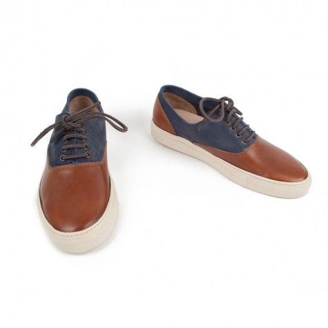 Buttero x Frenchtrotters - Baskets Homme 5003 - Cuoio Navy