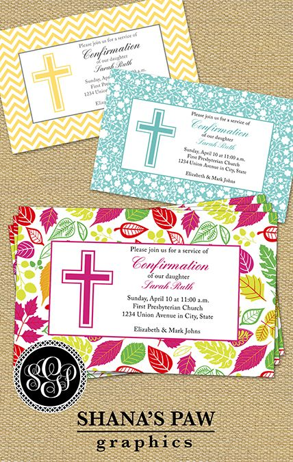 the latin cross of this shanaspaw com confirmation invitation design