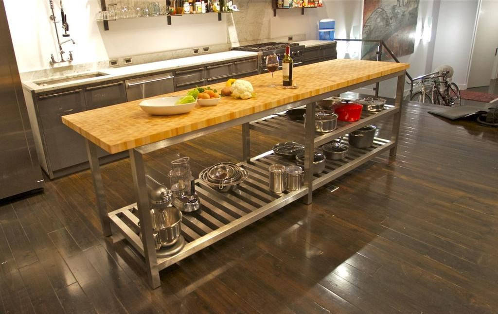 Image Result For At Home Commercial Kitchen Butcher Block Island