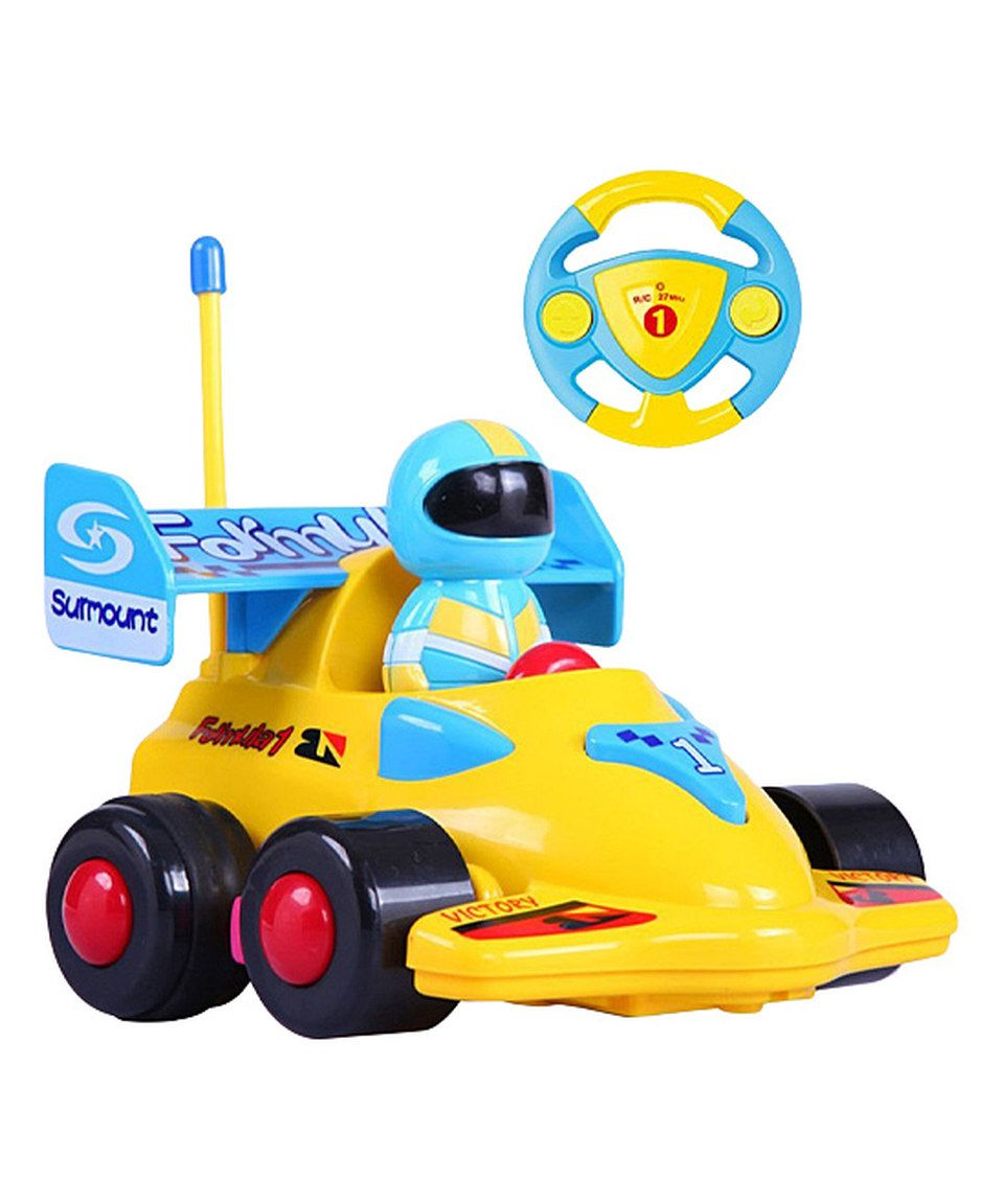 Look What I Found On Zulily 4 Yellow Cartoon Radio Control Race Car Toy By A To Z Toys Zulilyfinds Toy Car Toddler Toys Remote Control Cars