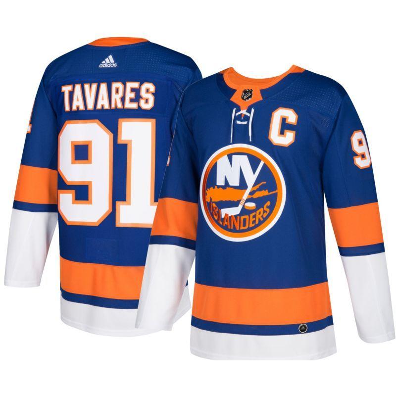 605c0d982aff8 adidas Men s New York Islanders John Taveras  91 Authentic Pro Home Jersey
