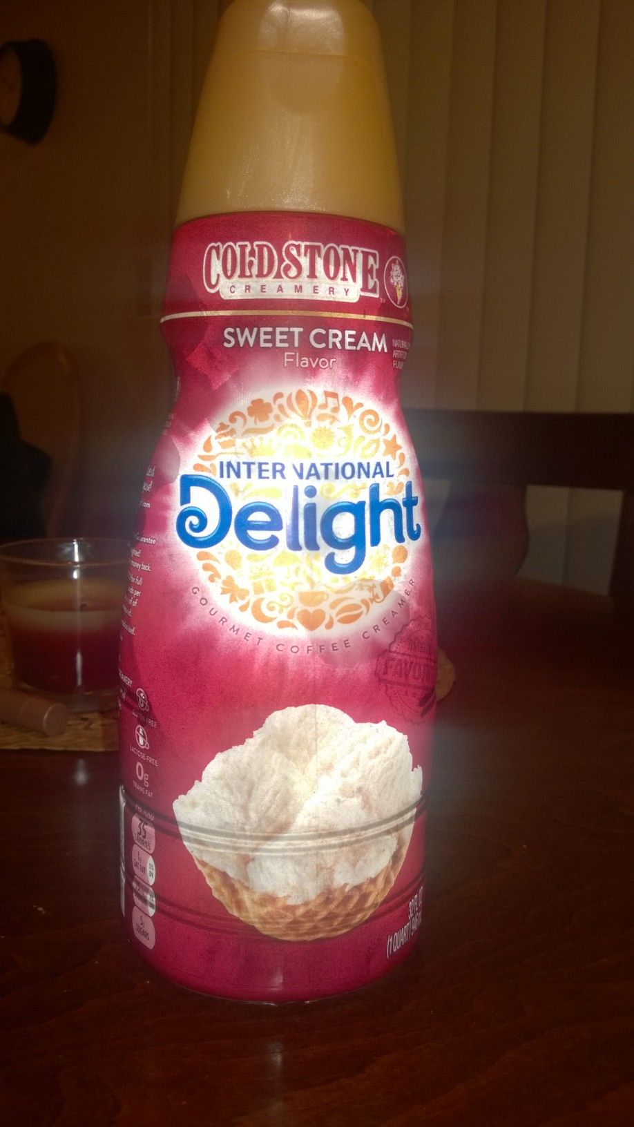 Cold Stone Creamery Sweet Cream International Delight's Coffee Creamer! Perfect sweetness! Love it! #GotItFree #HolidayDelight