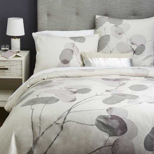 Honesty Duvet Cover Shams Fog West Elm Duvet Covers Duvet Bedding Sets Modern Bed