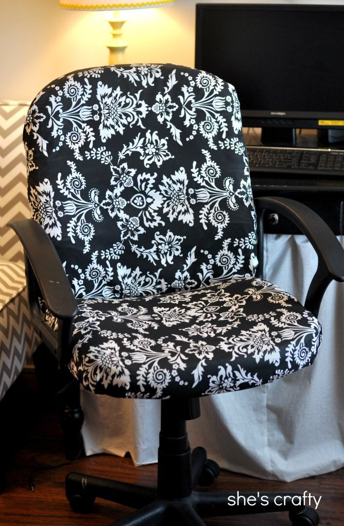High Quality No Sew Office Chair Cover. Sheu0027s Crafty: Recovered Office Chair