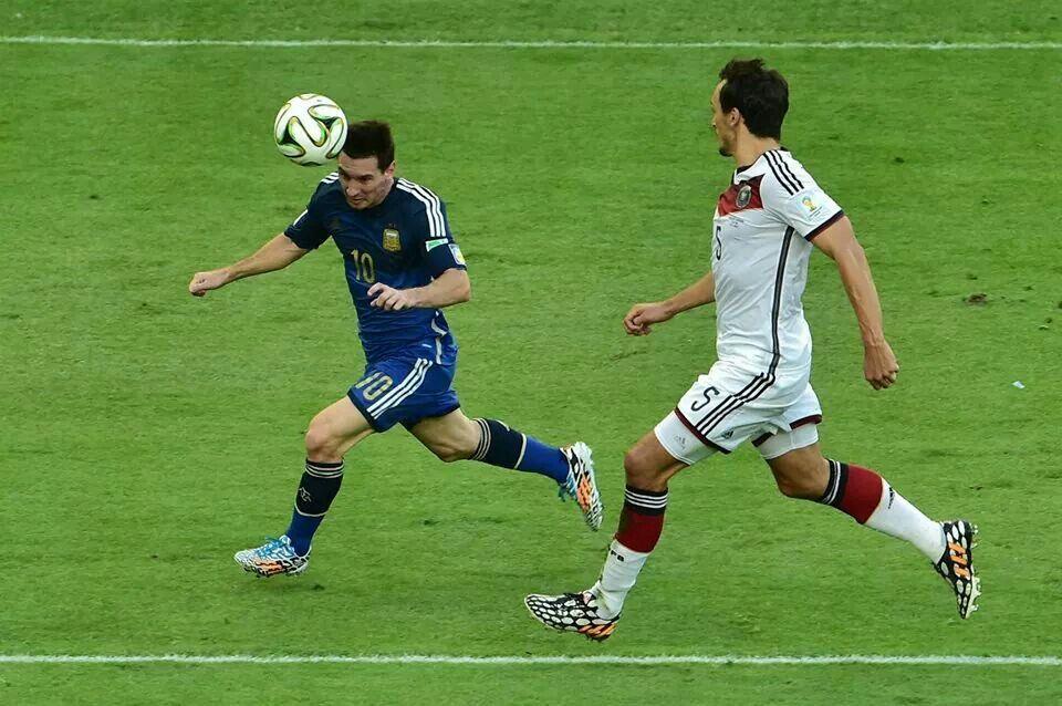 Messi en la final