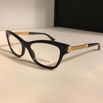 Fashion Eyewear Clear Glasses 179248: Brand New Black Versace ...