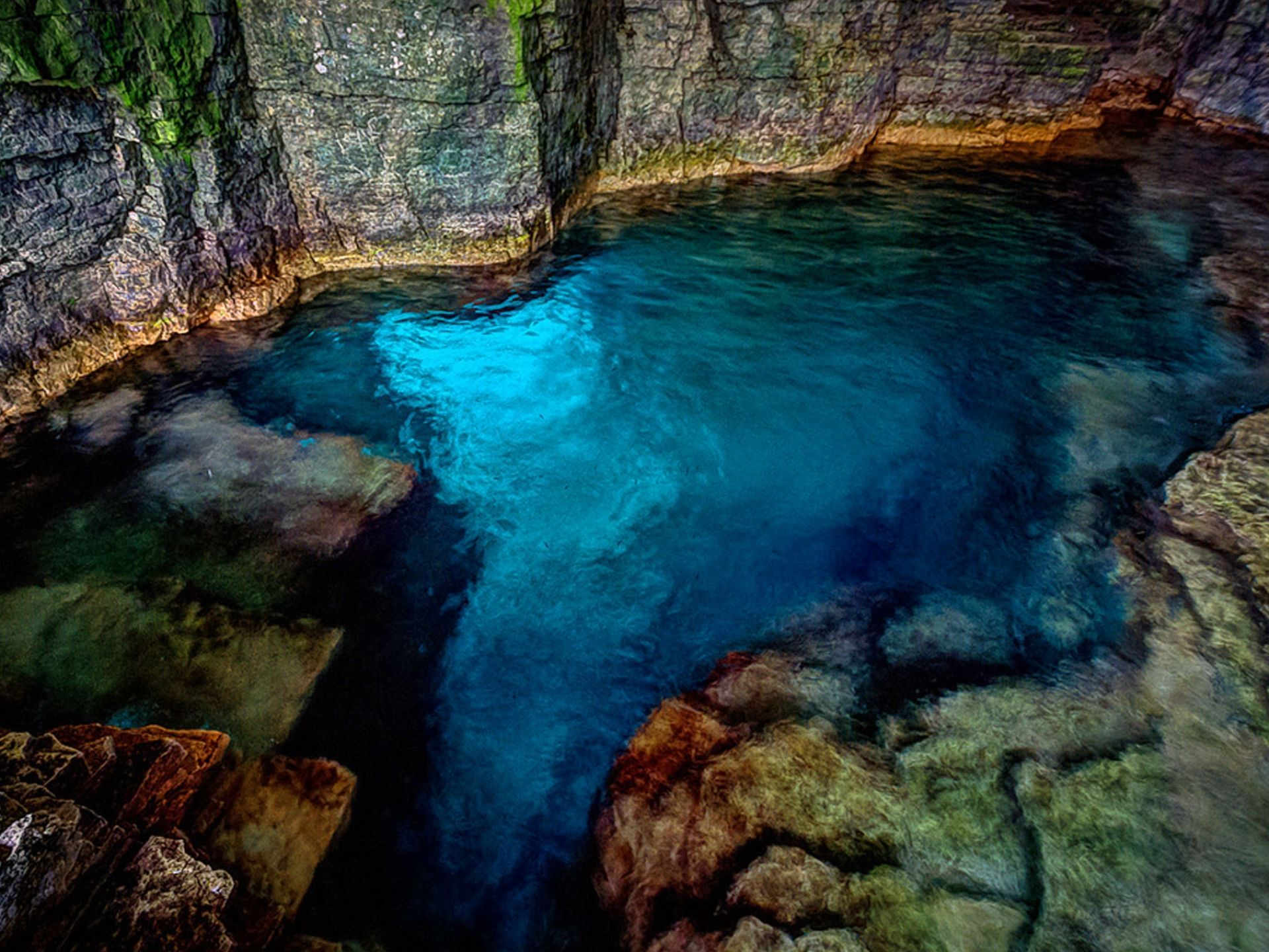 The Grotto Bruce Peninsula National Park Ontario About Four Hours Northwest Of Toronto Water
