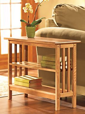 This Slim Bookcase Table Is Solid Wood And Made In The USA! | Solutions.