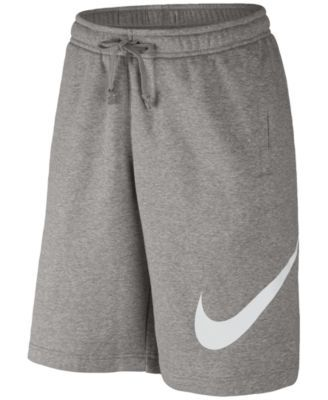 Nike Mens Club Jersey Lightweight Fleece Gym Summer Sportswear Shorts Grey