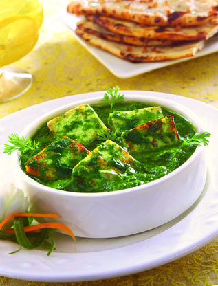 Palak Paneer Indian Fresh Spinach With Paneer Cheese