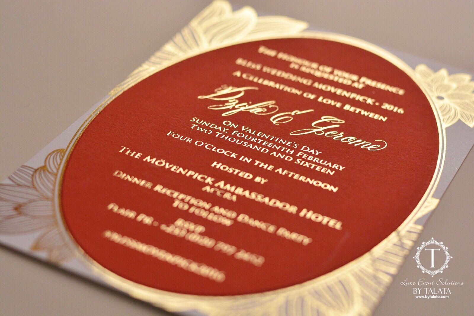 Double Layer Invitation by Talata   Talata Luxury Invitations ...