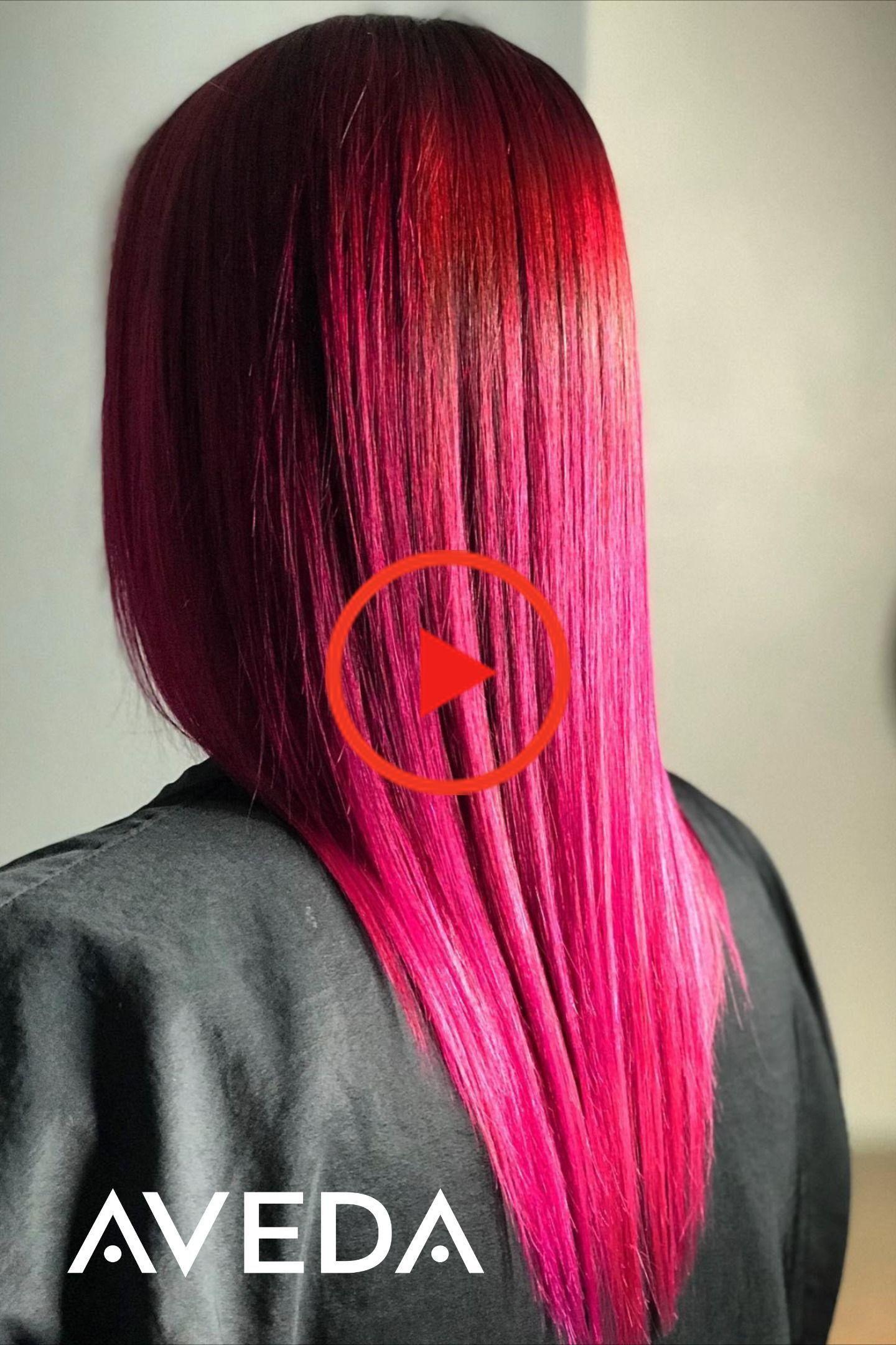 Donker roze haarkleur #avedasalon Wist u dat u kunt een hot pink mode haarkleur deze bruisende dat