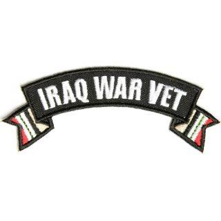 Iraq War Vet Ribbon Small Rocker Us Military Veteran Patches - Us-military-vet
