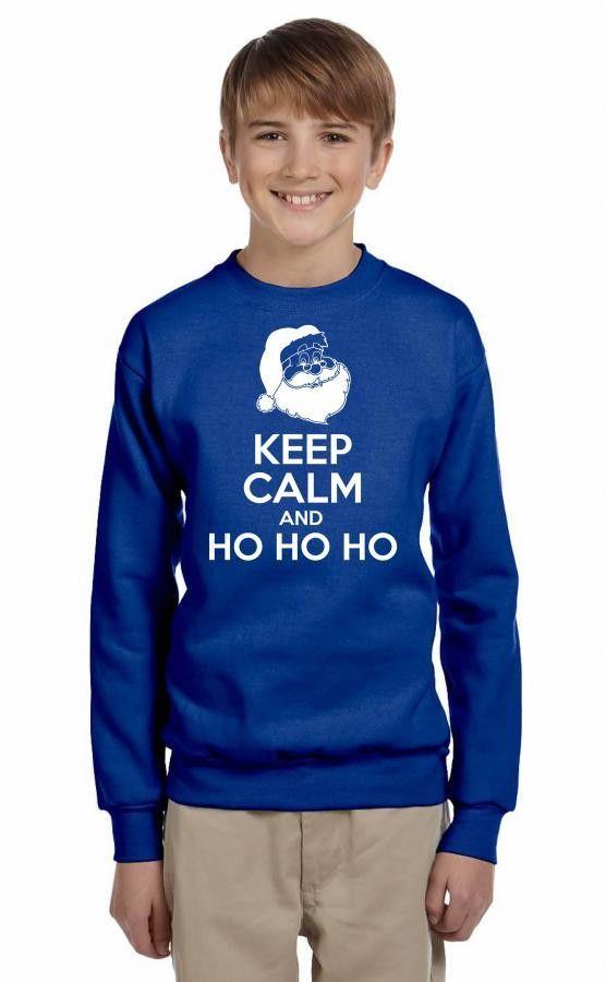 keep calm and ho ho ho Youth Sweatshirt