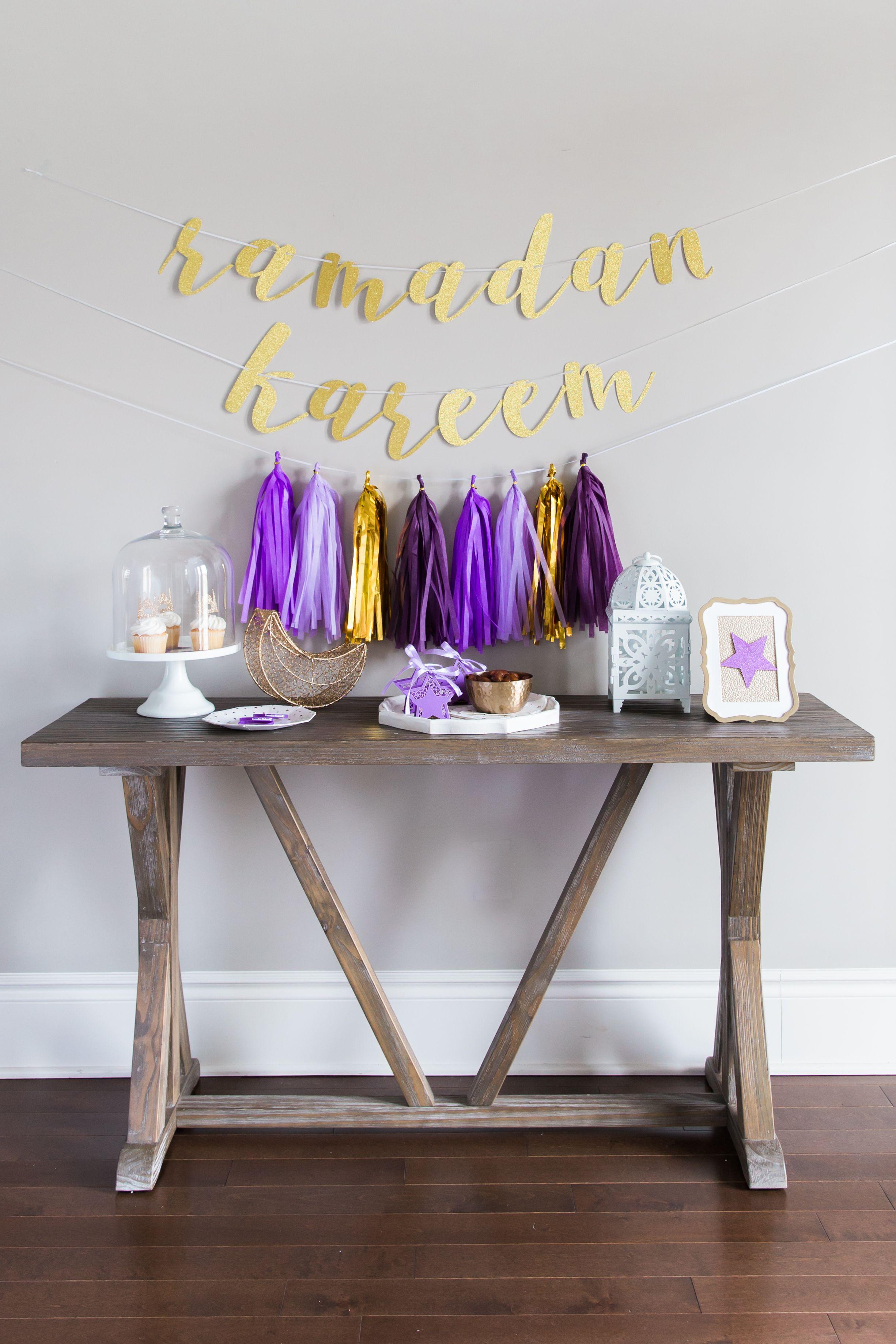 Purple Ramadan Decoration idea - Celestial-inspired colors ...