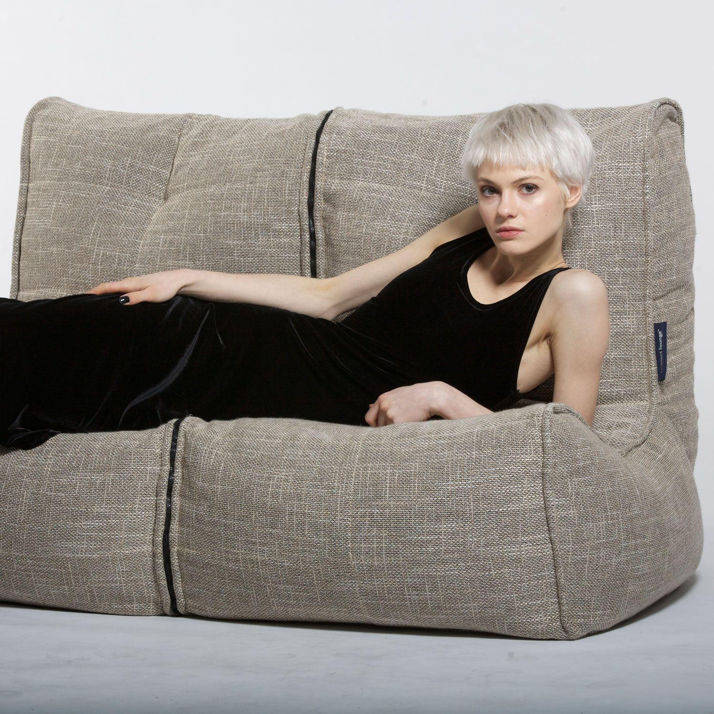 2 Seater Sofa Designer Bean Bag Couch Double Bean Bag