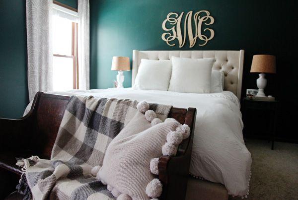 Green Master Bedroom | Green master bedroom, Master ...