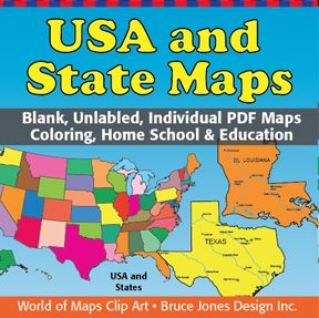 USA And State Individual PDF Maps Blank Unlabeled Outline Maps - Blank us state map pdf