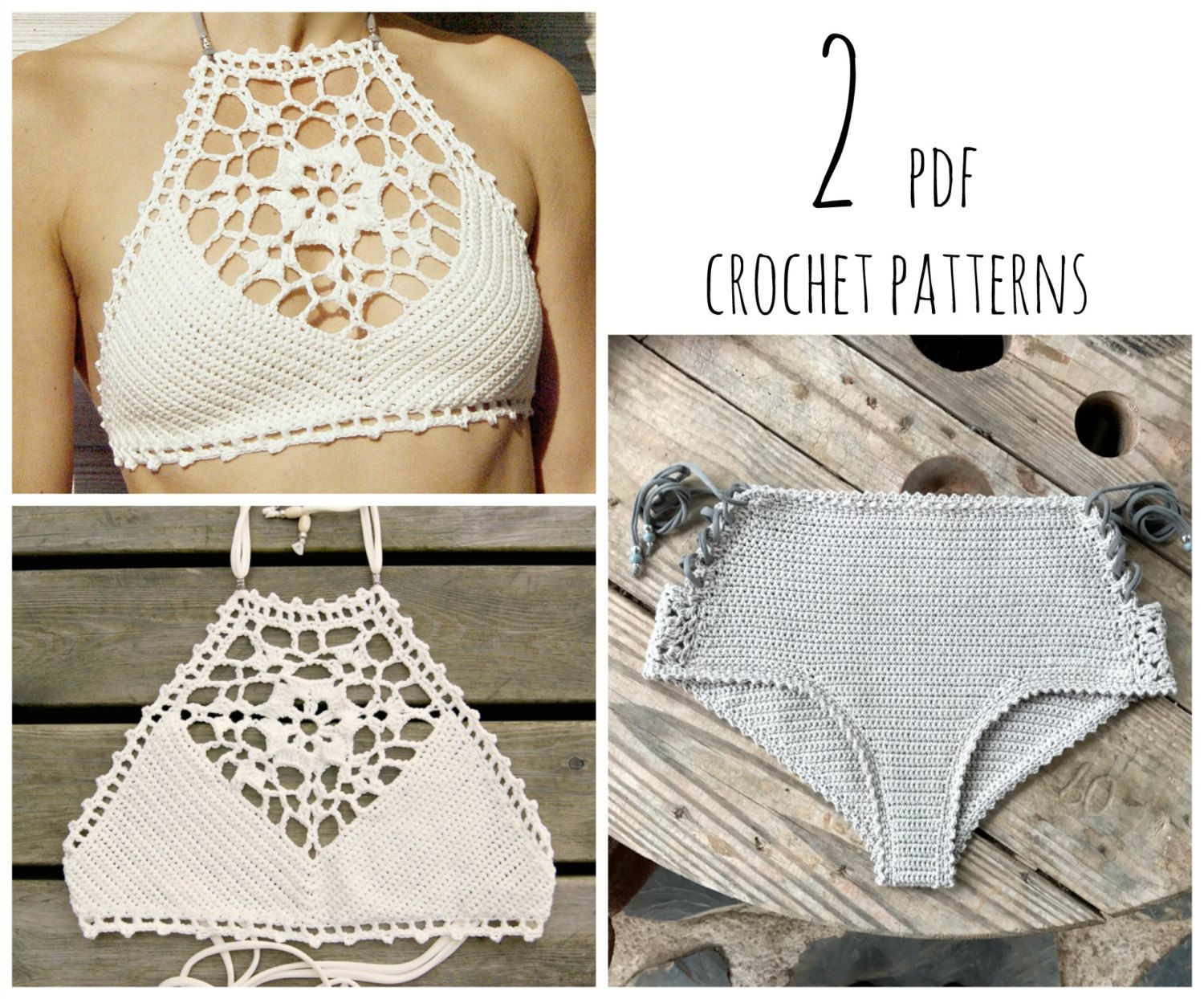 PDF-files for 2 Crochet PATTERNS: Venus crop Top and Aliyah Crochet ...