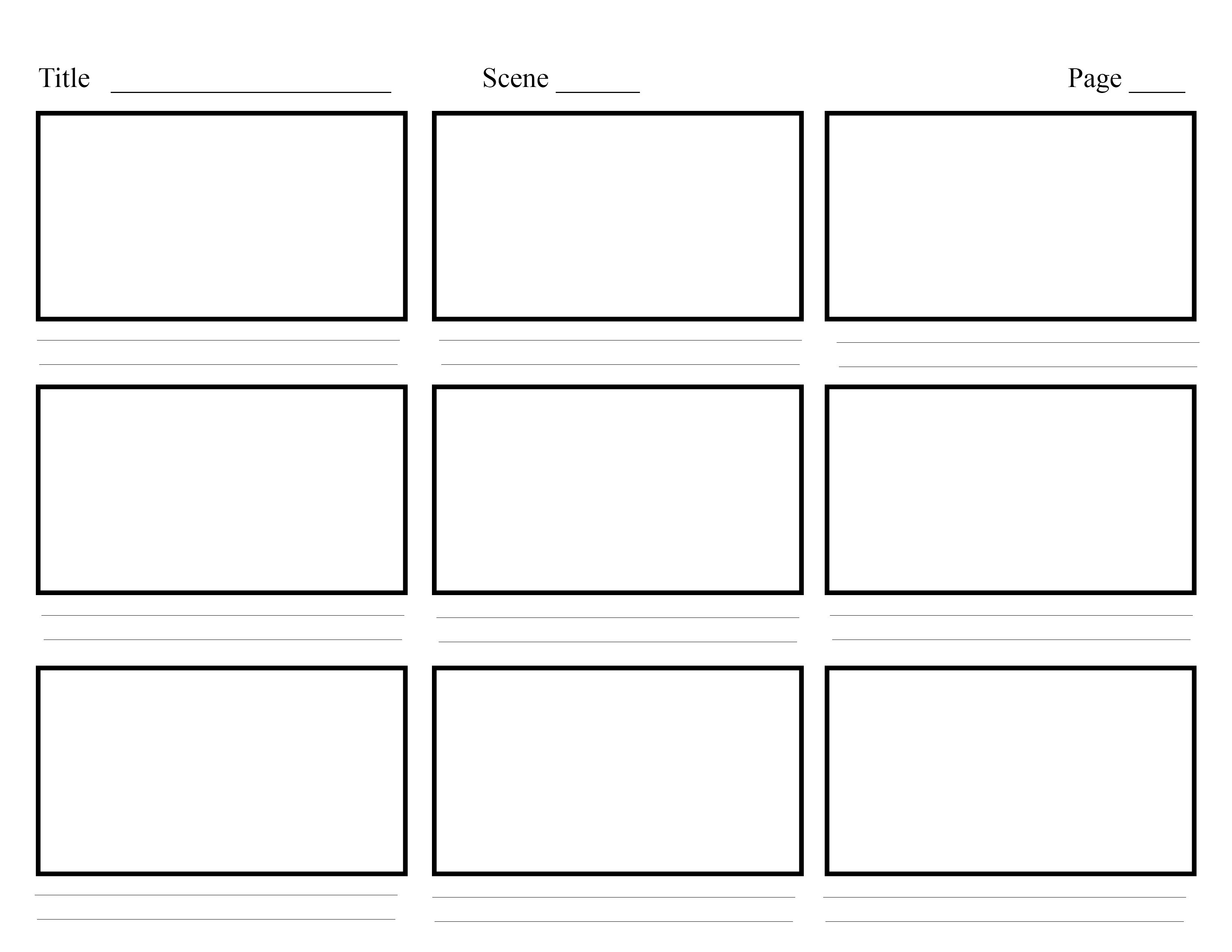 Storyboard Template  Google Search  Multimedia Projects