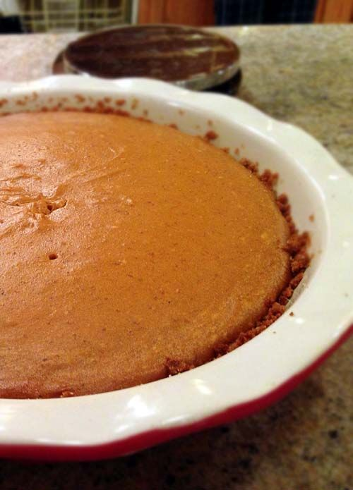 Pumpkin Cheesecake. Though bourbon whiskey is optional, it should be included for a full taste.