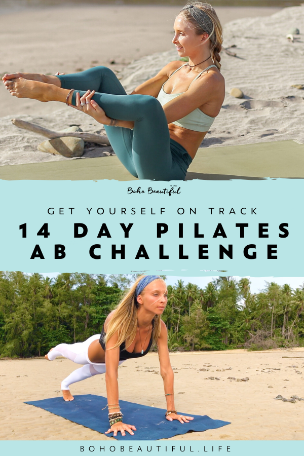 A FREE Get Yourself Back On Track Two Week Pilates Challenge to tone your abs and core | Boho Beauti...