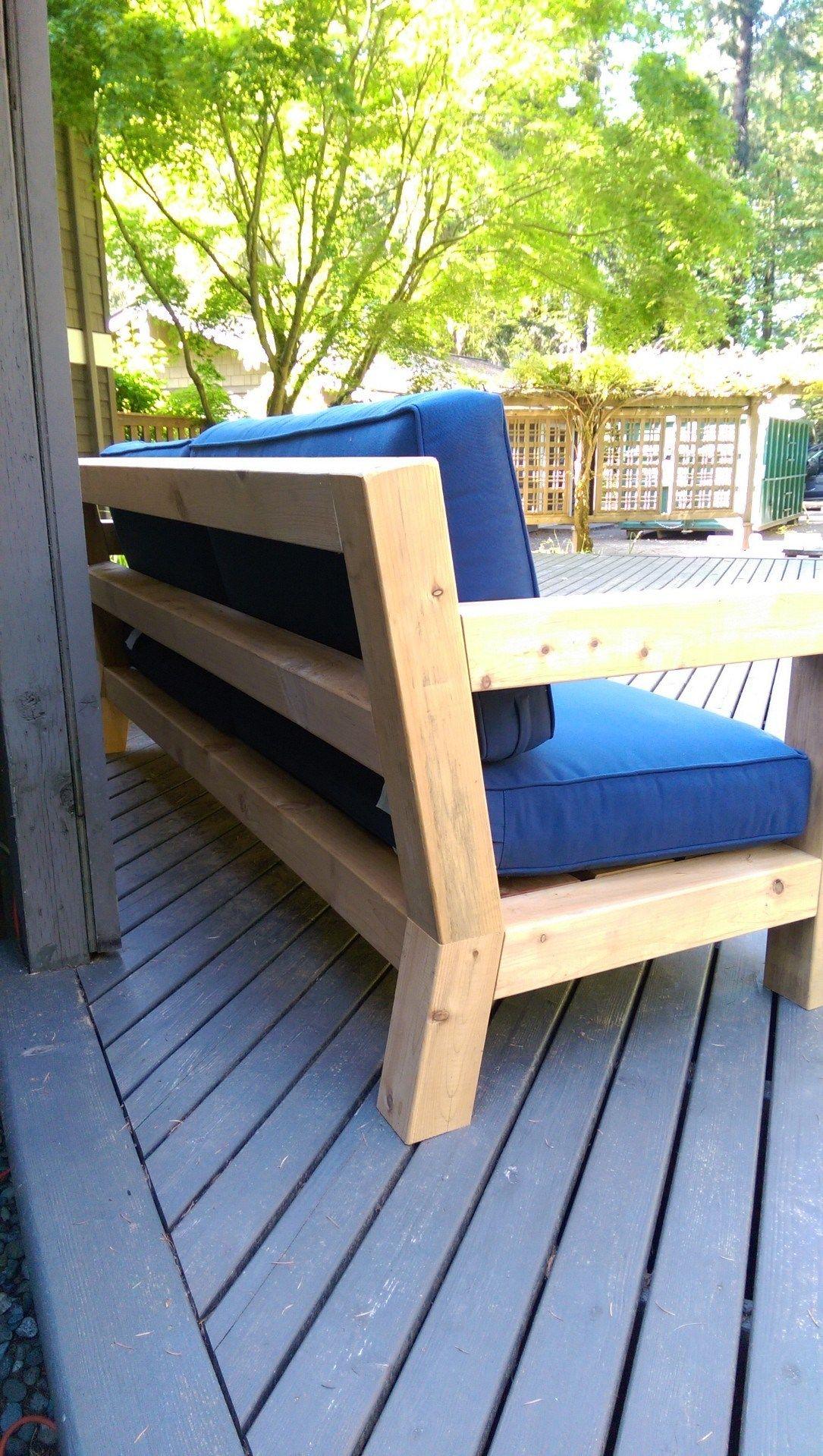 Diy modern rustic outdoor sofa inspired by rh merida hello