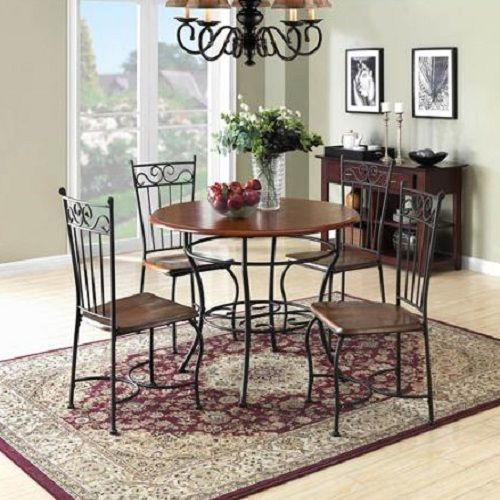 Dining Room Sets Antique Dinette 5 Piece Metal Wood Vintage Kitchen Table  Chairs #AntiqueVintage