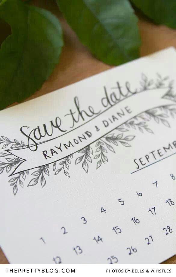 Cute And Simple Save The Date Plus Its A Free Printable So Would Be Very Affordable Just Cost Of Printing Paper I Can Help You Coordinate