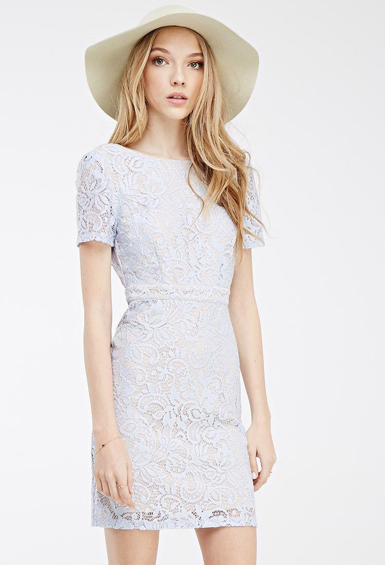 Fl Lace Scoop Back Dress Forever 21 2000100130
