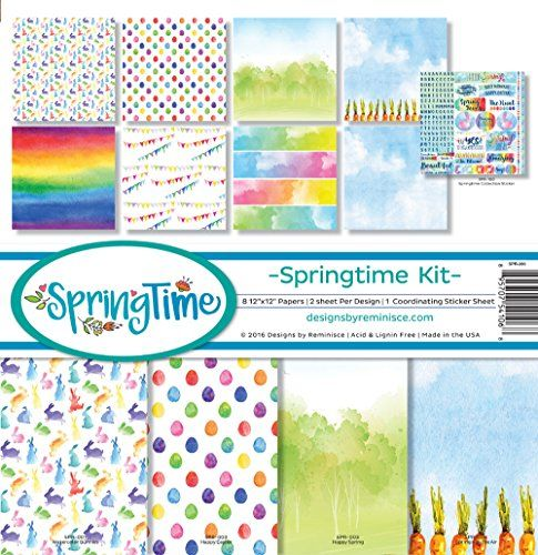 5 Sheets Striped Reminisce a Christmas Story Scrapbook Papers