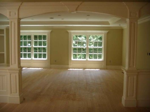 Half Walls With Pillars Wall Columns Cased Opening Select Another Service
