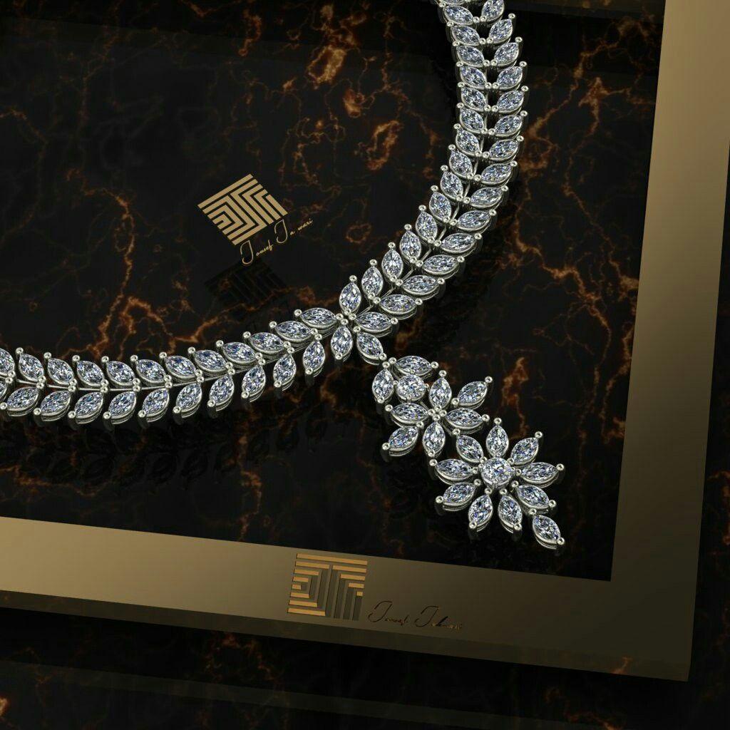 عقد الماس مصنوع بفن و إتقان من تصميم Jousef Jahwari مجوهرات الماس سلسال Jewelry Jewellery Diamond Instajewelry Diamond Necklace Necklace Jewelry