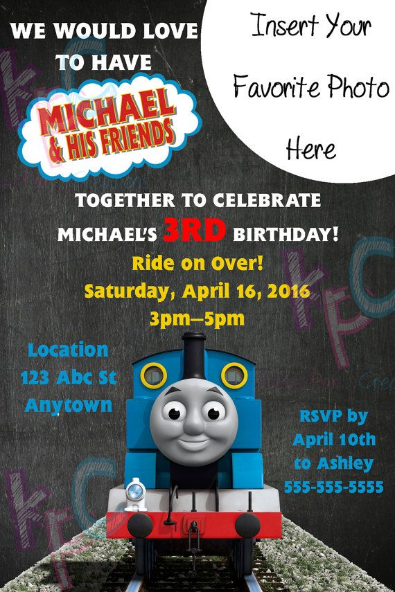 Thomas the Train 4x6 Birthday Invitation by KiddiePartyCreations ...