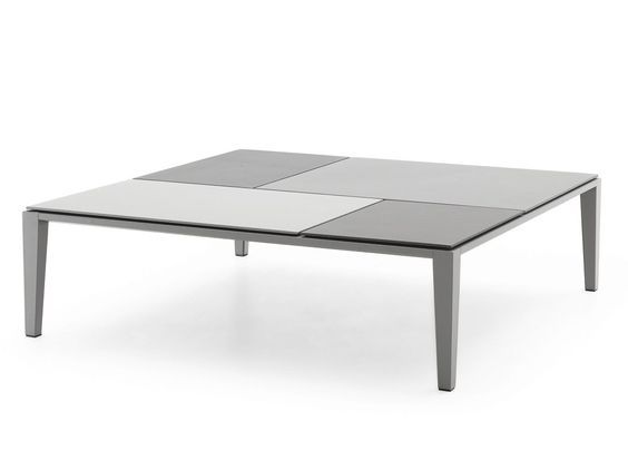 Low lacquered coffee table BRASILIA by Poliform   design Jean-Marie Massaud: