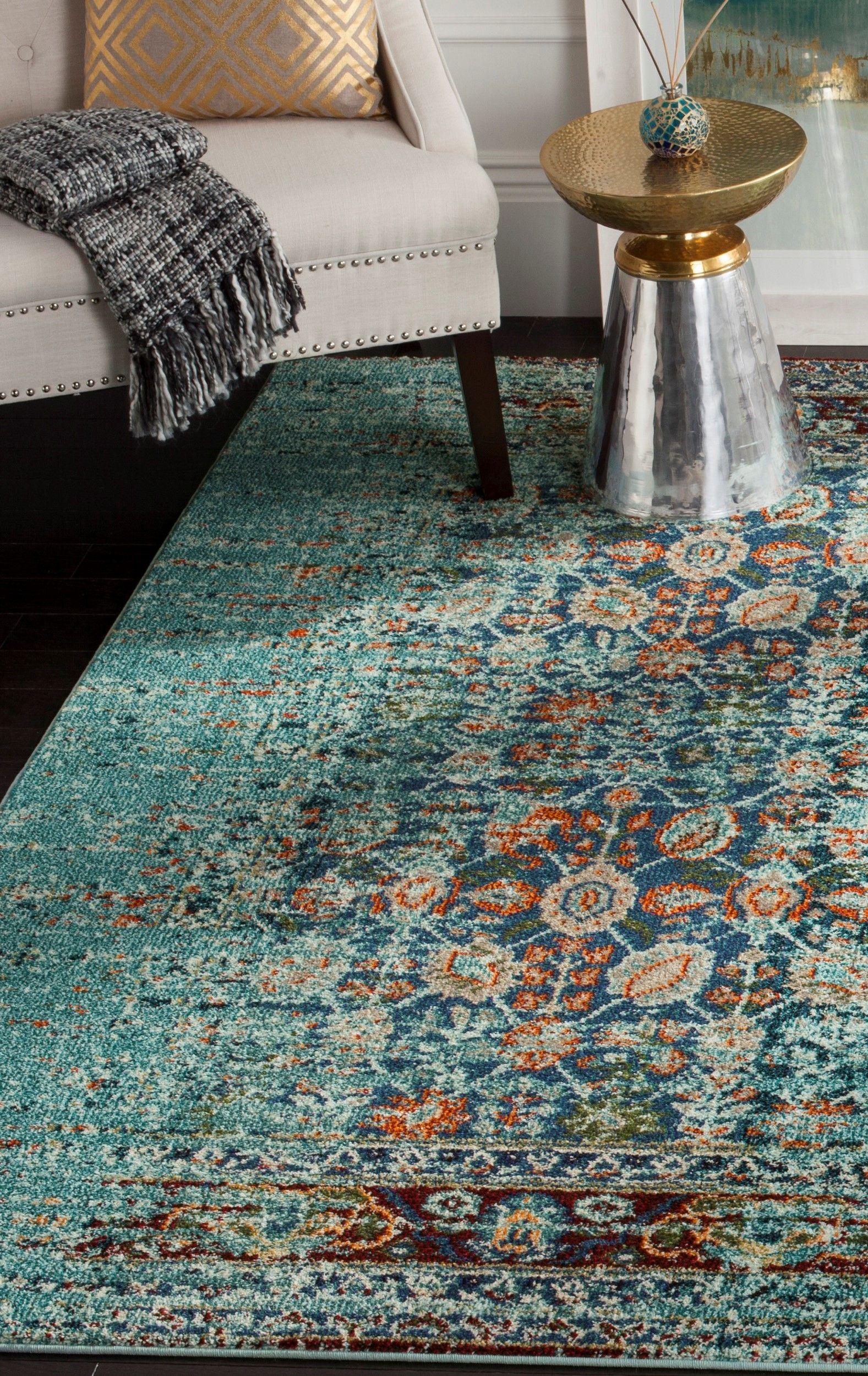 Geräumig Teppich Flur Beste Wahl Mit Seinem Verblassten, Traditionellen Design Ist Dieser