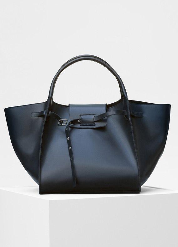 Medium Big Bag in shiny natural calfskin - Céline  42f594977d2f9