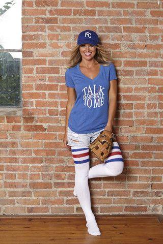 Talk BASEBALL to Me - Blue | Brooke and Arrow
