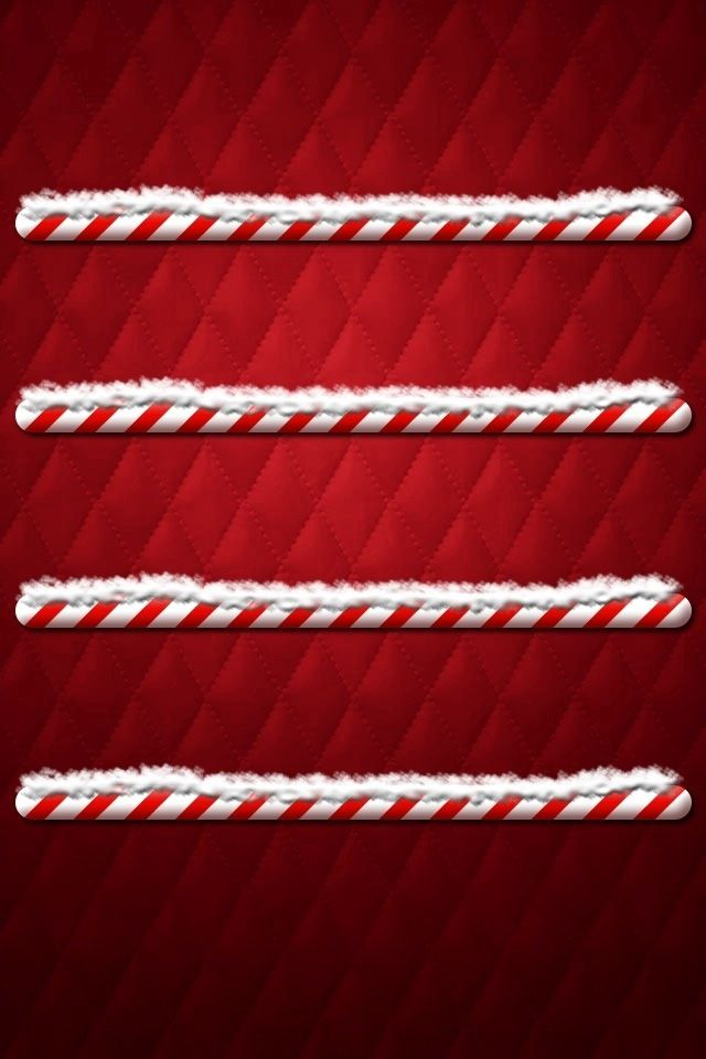 Candy Cane Shelf Wallpaper