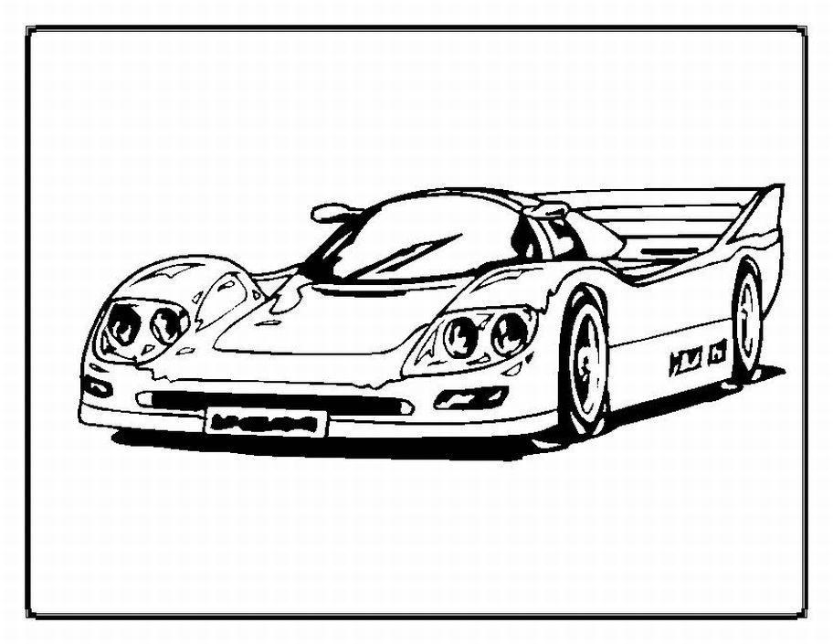 Free Printable Race Car Coloring Pages Nice