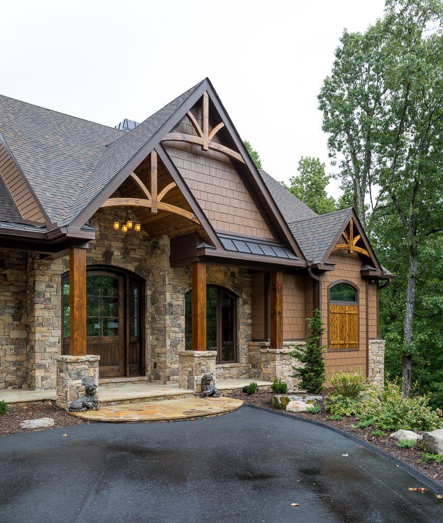 Stone Ridge Rustic Houses Exterior Mountain Home Exterior