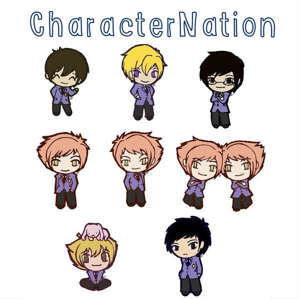 OURAN HighSchool Host Club OHSHC Stickers, 8 Characters, Fan-art, Fun... (£0.64) ❤ liked on Polyvore