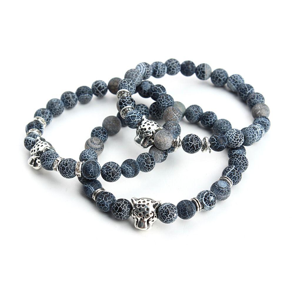 Stretchy natural stone bracelet bangle buddha beads energy yoga