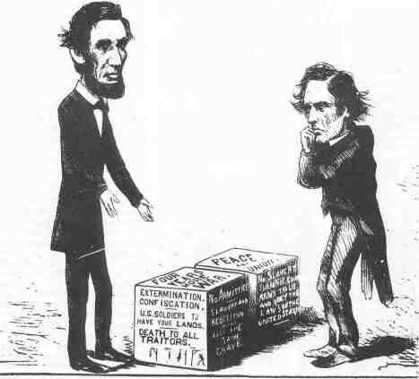 Abraham Lincoln S Presidency In Comic Political Cartoons Ap Us